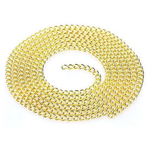 Gliederkette, gold, 2 x 4 mm, 1 m