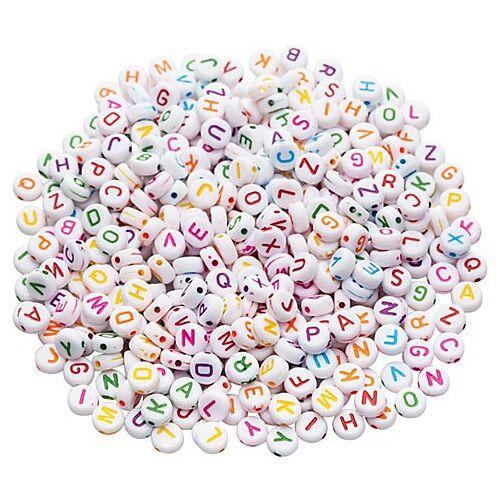 Buchstabenperlen, pastell, 7 mm Ø, 50 g