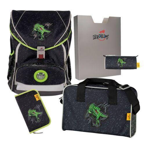 DerDieDas ErgoFlex XL Schulrucksack Set 5-teilig Rex