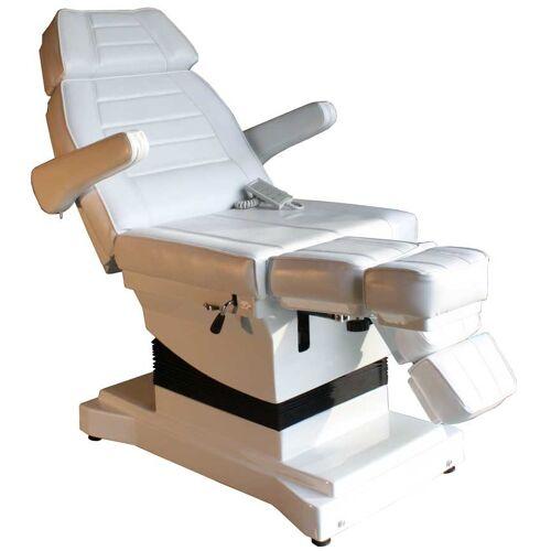 FIGARO 1444 Luxus-Fußpflegestuhl elektrisch weiß 3 Motoren