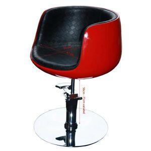 FIGARO 1895 Frisierstuhl PALIANO Rahmen rot, PVC schwarz (B-Ware)