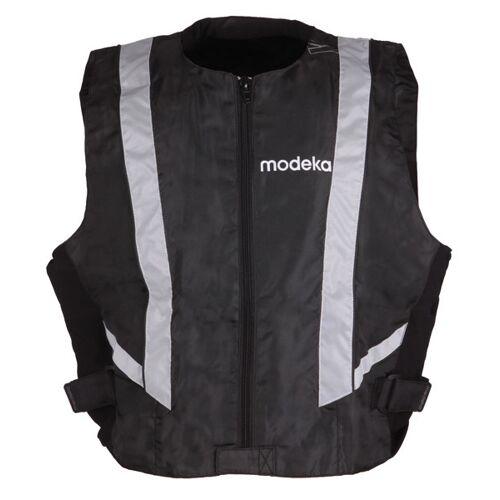 Modeka Basic Warnweste Schwarz S