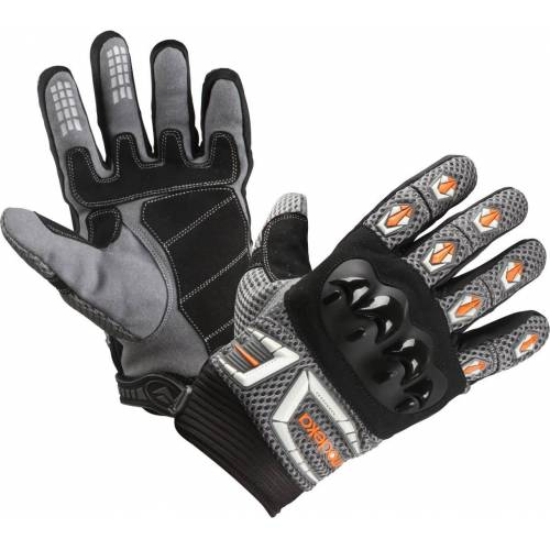Modeka MX Top Handschuhe Grau Orange S M