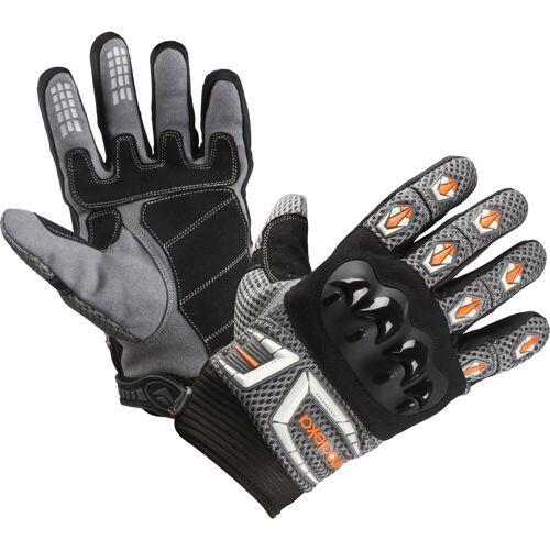 Modeka MX Top Handschuhe Grau Orange M L