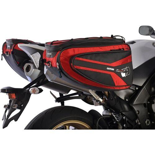 Oxford P50R Motorrad Satteltasche Rot 41-50l