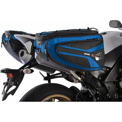 Oxford P50R Motorrad Satteltasche Blau 41-50l