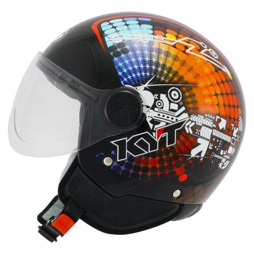 KYT Vodoo Mech Jet Helm  L