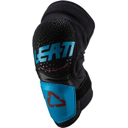Leatt 3DF Hybrid Motocross Knieprotektoren Blau S M