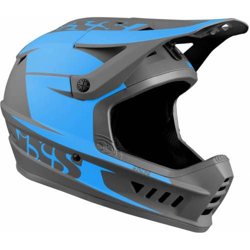IXS XACT Evo Downhill Helm Grau Blau M L