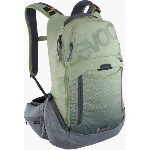 Evoc Trail Pro 16L Protektoren Rucksack Grün L XL