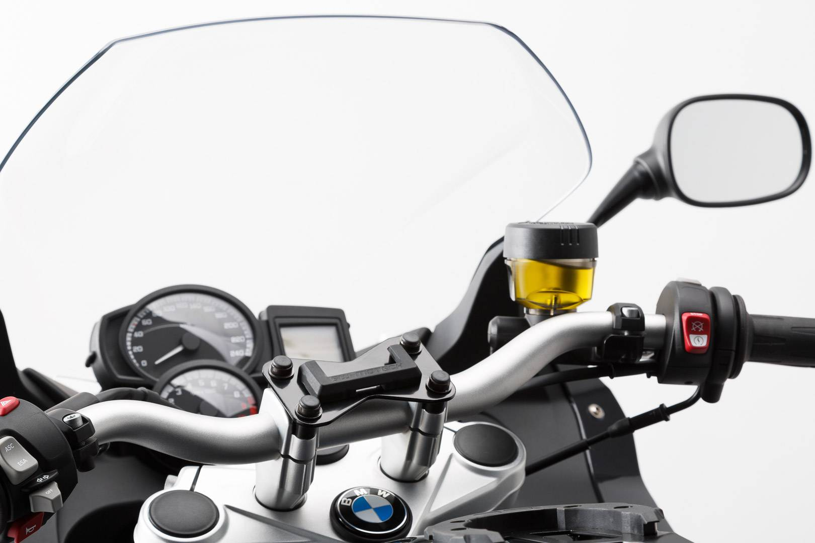SW-Motech Navi-Halter am Lenker - Schwarz. BMW F800R, F800GT, Husqvarna TR650. schwarz