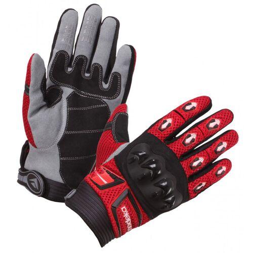 Modeka MX Top Handschuhe Schwarz Rot L