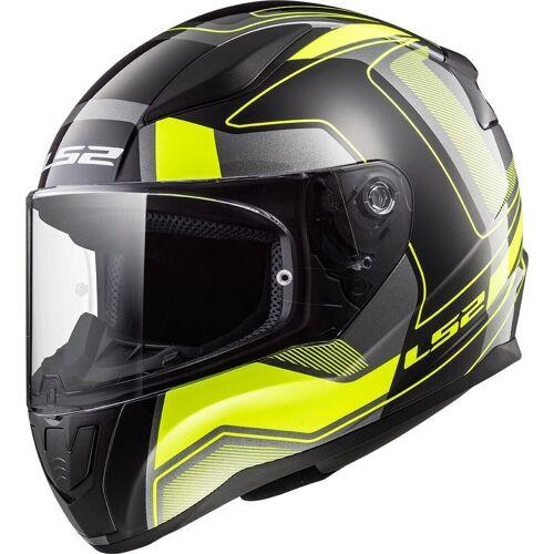 LS2 FF353 Rapid Carerra Helm Schwarz Gelb XL