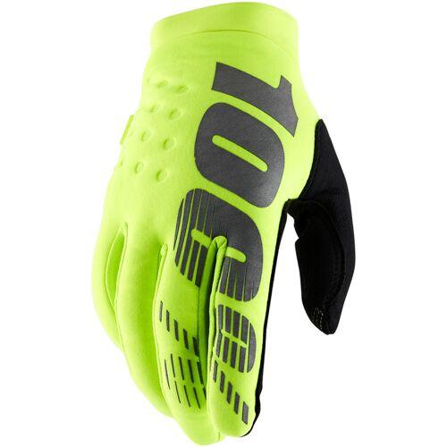 100% Brisker Handschuhe Gelb M