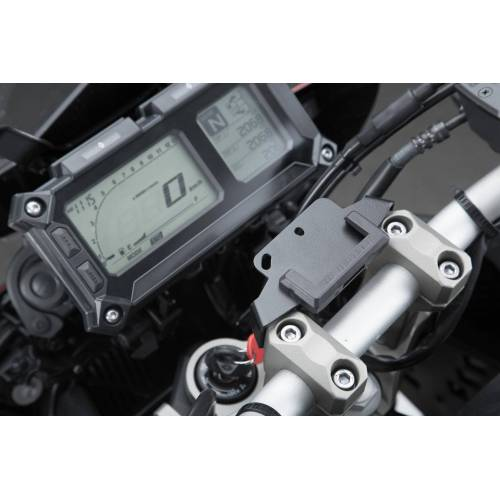 SW-Motech Navi-Halter am Lenker - Schwarz. Yamaha MT-09 Tracer/ Tracer 900GT. schwarz