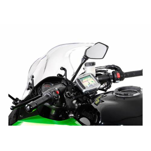 SW-Motech Navi-Halter am Lenker - Schwarz. Kawasaki Z1000SX, Ninja 1000SX. schwarz