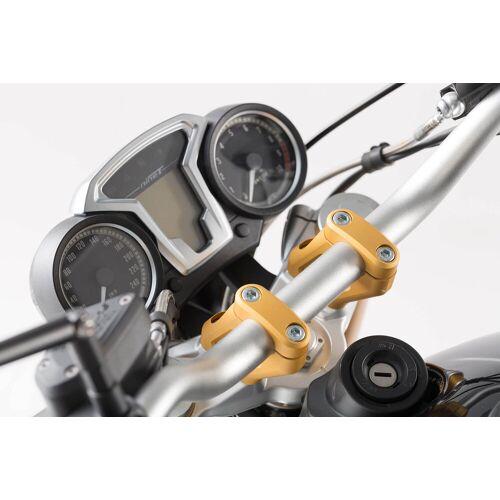 SW-Motech Lenkerverlegung - H=20 mm. Verlegung um 30 mm. Golden. BMW R nineT.