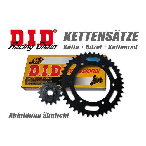 DID Kette und ESJOT Räder VX-Kettensatz Daelim VT 98-02 80 km/h Schwarz