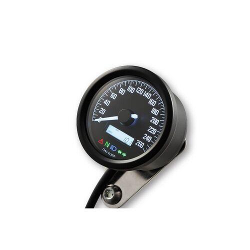 DAYTONA Corp. Digitaler Tacho, VELONA 2, bis 260 Km/h Schwarz