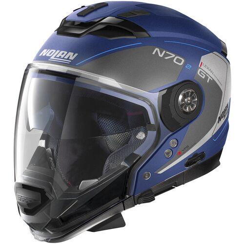 Nolan N70-2 GT Lakota N-Com Helm Blau M