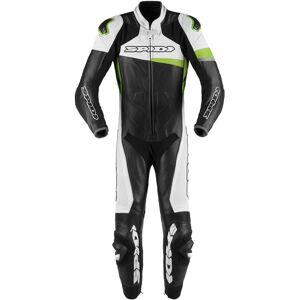 Spidi Race Warrior Pro 1-Teiler Motorrad Lederkombi Perforiert Schwarz Grün 48