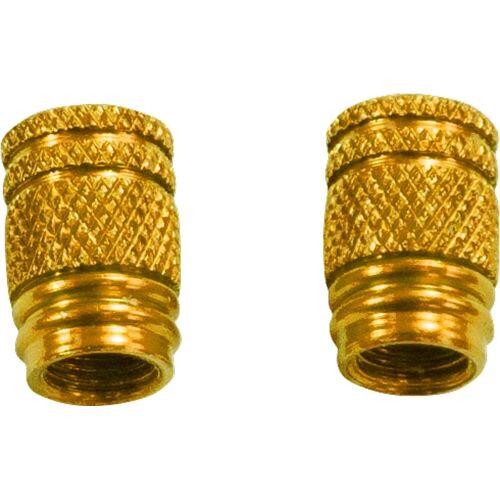 Büse Alu Ventilkappen Gold