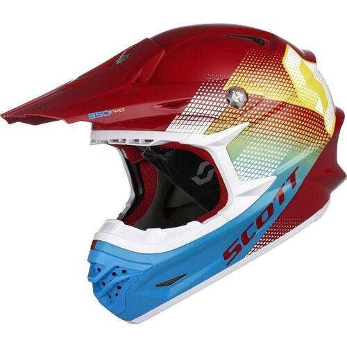 Scott 350 Pro Dirt Crosshelm Rot Blau XL