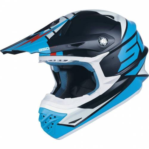 Scott 350 Pro Podium Crosshelm Blau 2XL