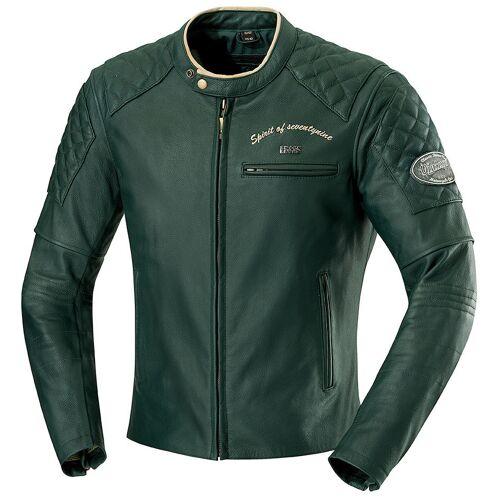 IXS Eliott Motorrad Lederjacke Grün 46