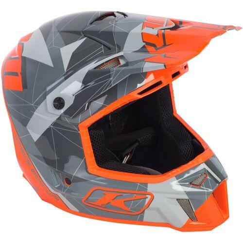 Klim F3 Crosshelm Gray Camo Motorradhelm Grau Orange S