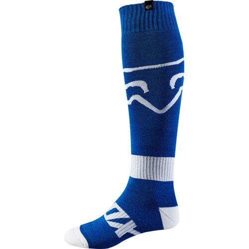FOX Fri Race MX Socken Weiss Blau S
