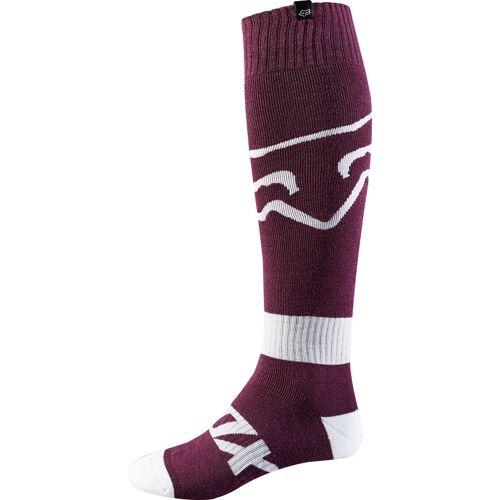 FOX Fri Race MX Socken Weiss Lila M