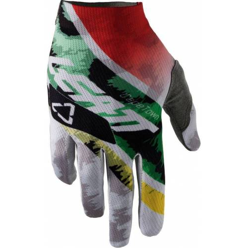 Leatt GPX 1.5 GripR Leopard Handschuhe Weiss Grün S
