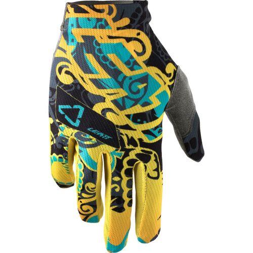 Leatt GPX 1.5 GripR Tattoo Handschuhe Blau Gelb L