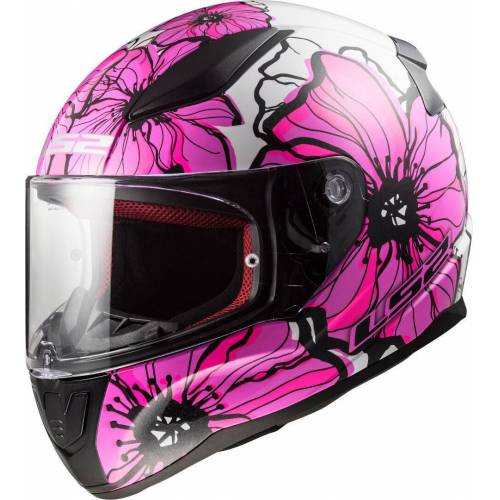 LS2 FF353 Rapid Poppies Helm Pink 2XL