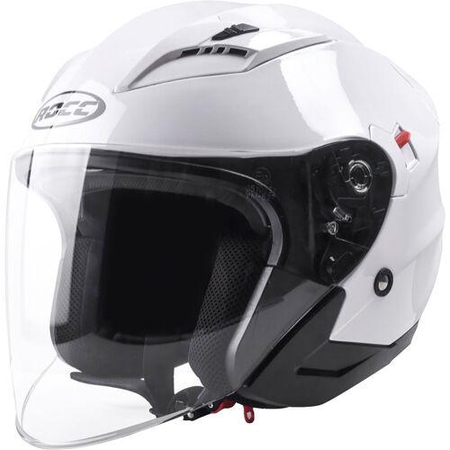 Rocc 210 Motorrad Jethelm Weiss M