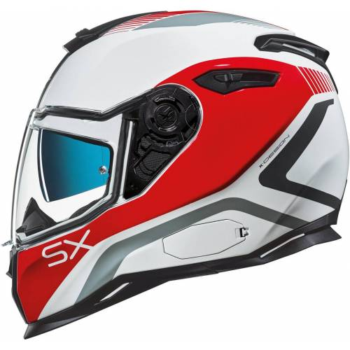 Nexx SX.100 Popup Helm Weiss Rot M