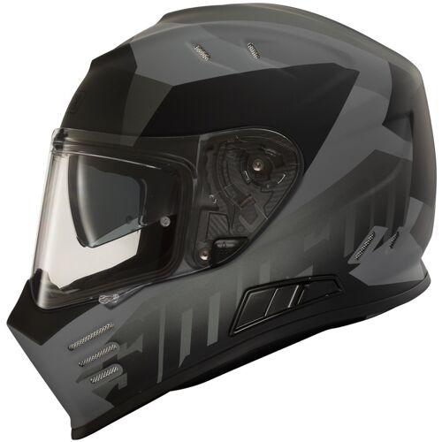 Simpson Venom Army Motorradhelm Schwarz Grau XS