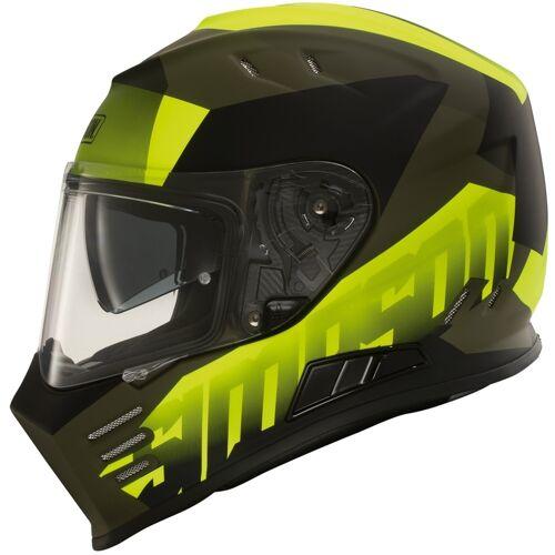 Simpson Venom Army Motorradhelm Schwarz Gelb L