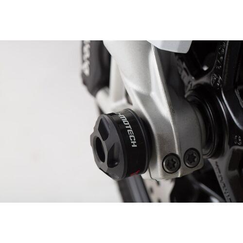 SW-Motech Sturzpad-Kit für Vorderachse - Schwarz. BMW F800R / R1200 / R1250 / S1000XR. schwarz