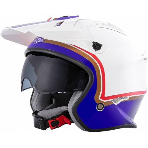 Oneal Volt Rothmans Trial Helm Weiss Rot L