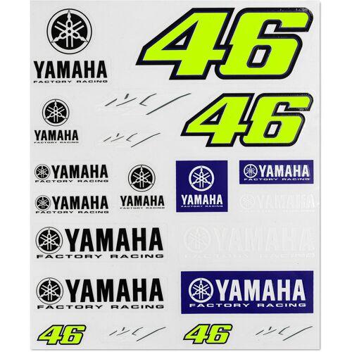 VR46 Racing Aufkleber Set Blau Gelb Einheitsgröße