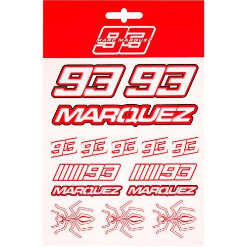 GP-Racing 93 MM93 Aufkleber Set Weiss Rot Einheitsgröße