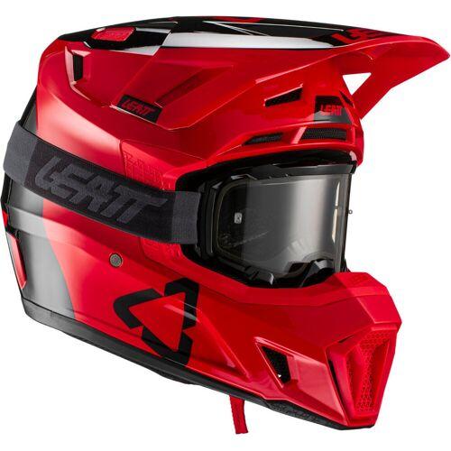 Leatt Moto 7.5 V21.2 Motocross Helm mit Brille Rot L