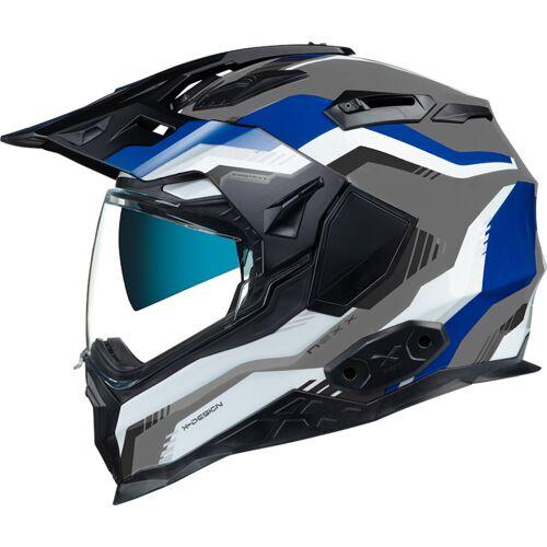 Nexx X.Wed 2 Columbus Helm Grau Blau S