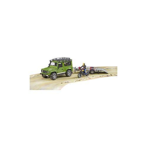 Bruder Spielwaren Bruder Land Rover Defender mit Anhänger und Ducati Scrambler