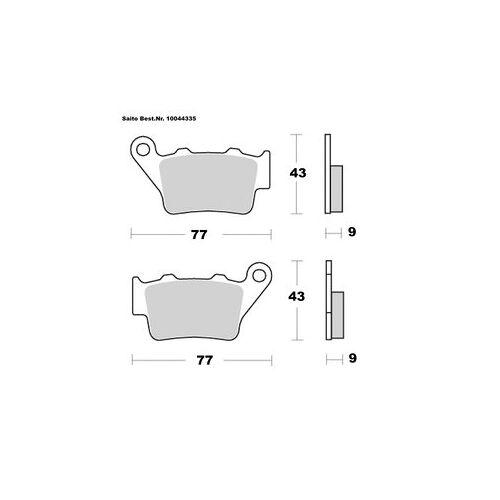 Saito Bremsbeläge Organisch Mit ABE Diverse Modelle Bmw C1 (125ccm)