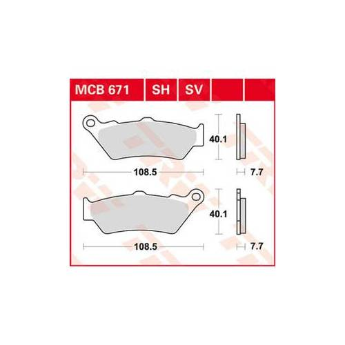 TRW Bremsbeläge Sinter mit ABE Organisch, Bmw C1 (125ccm)