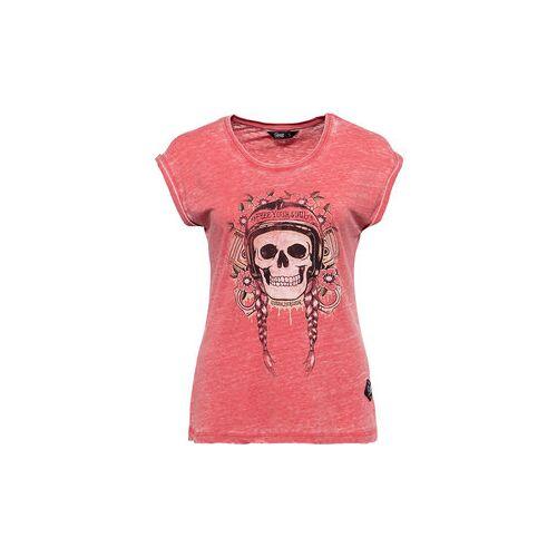 King Kerosin Queen Kerosin Free Your Soul Damen T-Shirt rot XL