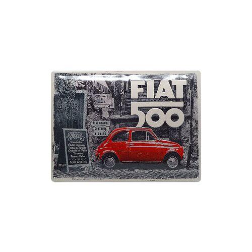 ZZZ-kein Hersteller Retro Blechschild Fiat 500 Maße: 40x30cm